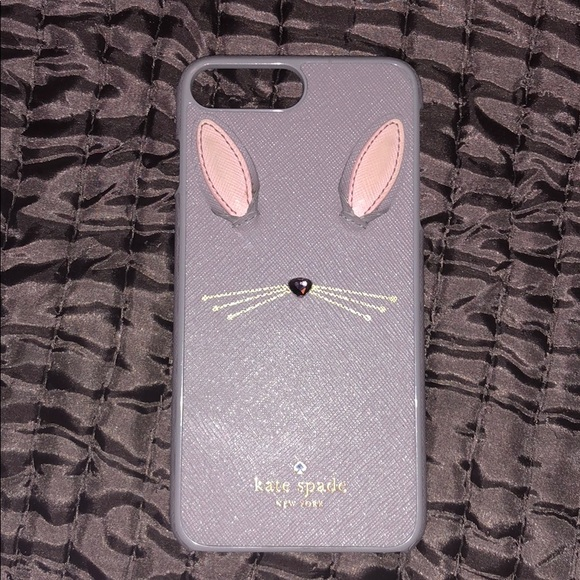 reputable site 80cd9 a992f iPhone 7 Plus Kate Spade Leather bunny case